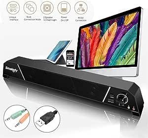 Barras De Sonido para TV con Subwoofer Panasonic HiFi Sound 8W Potente Estéreo De 3,5 Mm Jack para TV PS4 Smartphone De Escritorio Y Portátil: Amazon.es: Deportes y aire libre