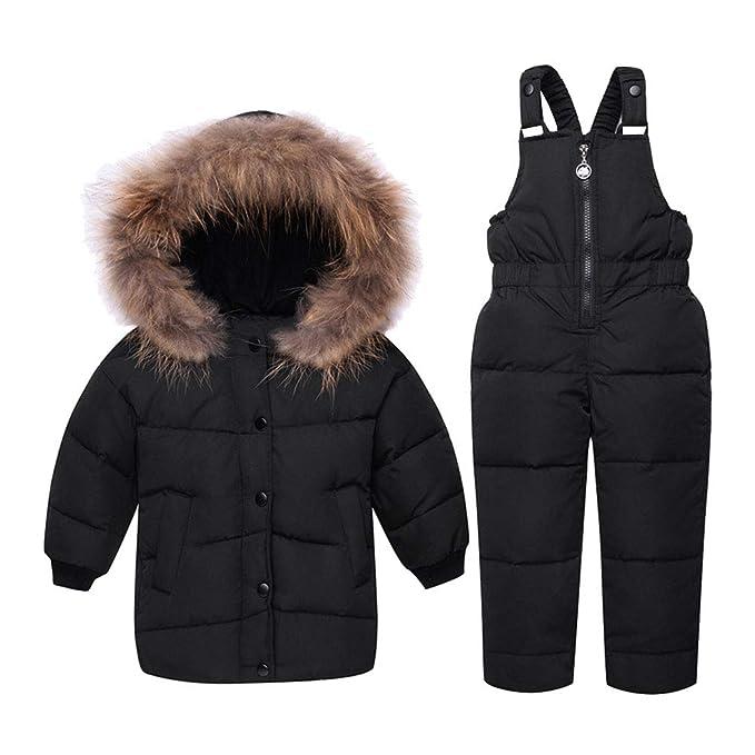 LSHEL Baby Jungen Mädchen Winter Schneeanzug, Gepunkteter