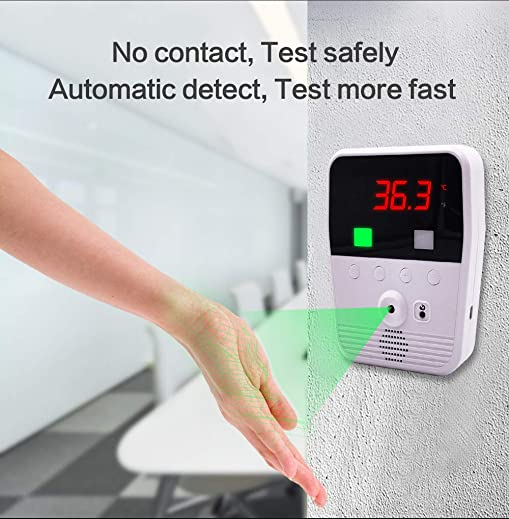 Infrared Induction Thermometer, Automatic Non-Contact Digital Thermometer, Infrared Wrist or Palm Thermometer with LCD Display, Temperature Detector for Public Spaces, Entrances, School Office