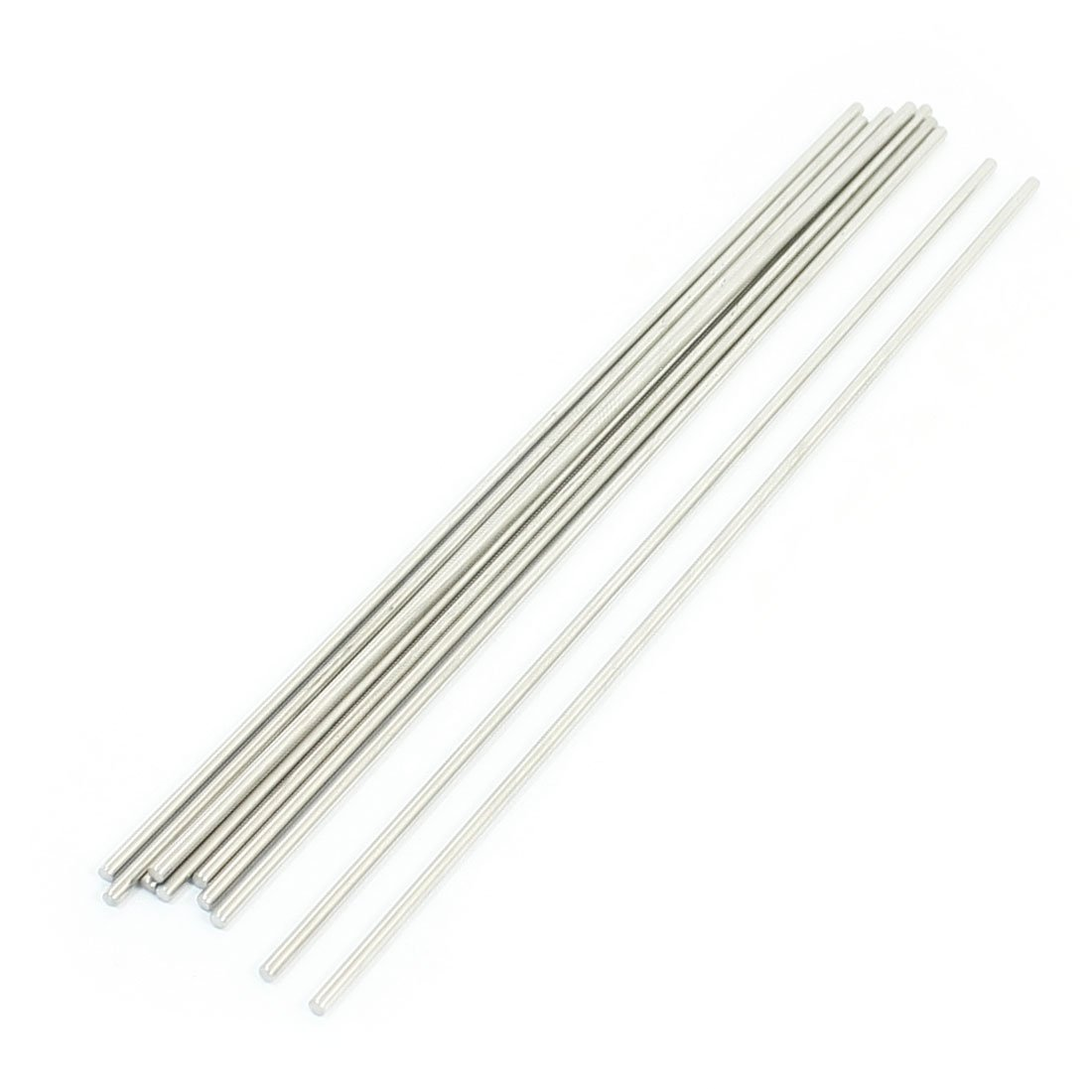 10pcs Silver Tone Stainless Steel 170mmx2.5mm Round Rod Axles for Toys uxcell a14061900ux0125