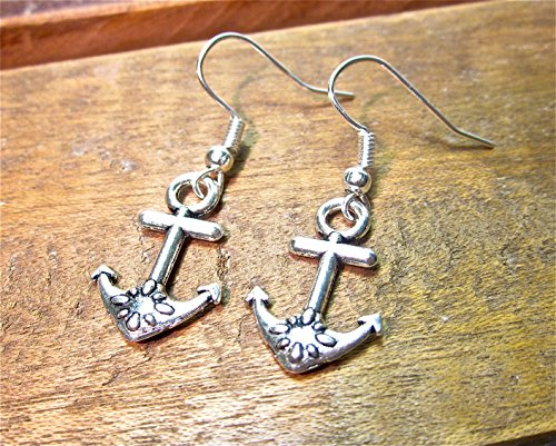 Geralin gioielli argent vintage boucles d'oreille ancre pour femme