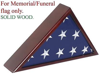 Amazon.com: FC60-MAH, caja de madera lisa para bandera ...