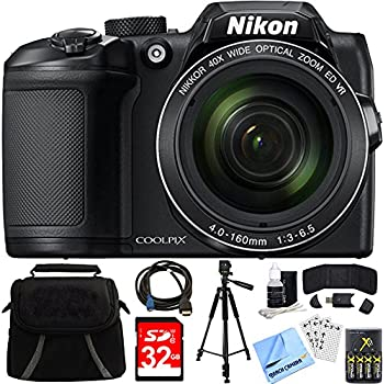 Nikon COOLPIX B500 16MP 40x Optical Zoom Digital Camera 32GB Bundle Includes Bag Memory Card Reader Wallet AA Batteries Charger
