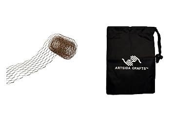 Amazon com: Darice Floral Design Chicken Wire Ribbon Rusty 4in  X