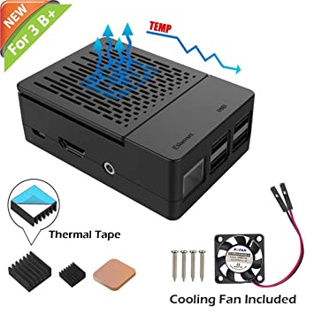 Amazon Com Iuniker Raspberry Pi 3 B Case Raspberry Pi Fan Abs