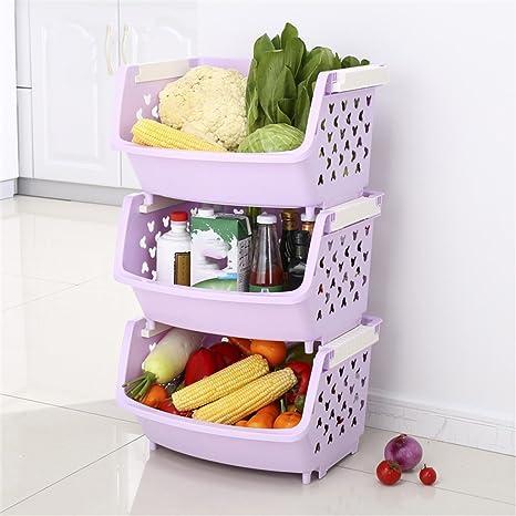 L&Y Mobili da cucina Mensola da cucina Verdura Frutta Cestello ...