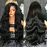 FENJUN HAIR 100% Brazilian Virgin Human Hair Lace Front Wigs For Black Women Wet And Wavy Full Lace Front Wigs 150% Density Glueless Wigs With Baby Hair (16inch, lace front wig)