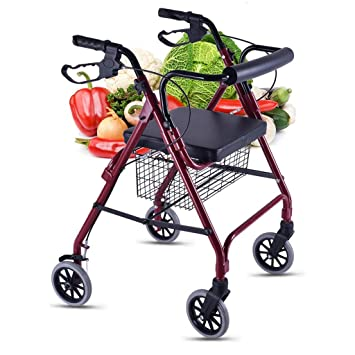Carritos de la compra Walker Trolley Old Man Comprar Comida Carrito Pequeño Empuje A Mano Puede