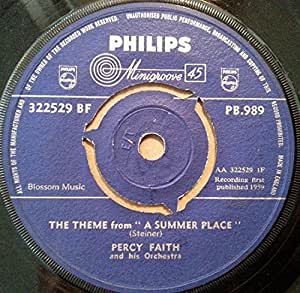 Percy Faith The Theme From A Summer Place 7 Quot 45 Amazon