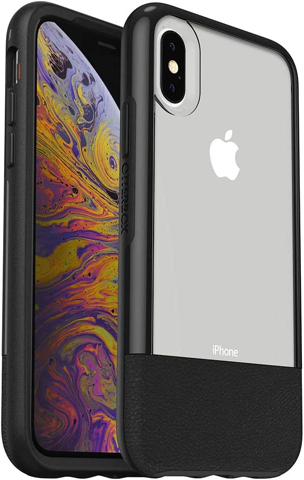 OtterBox Clear & Leather Case for iPhone Xs - LUCENT BLACK (CLEAR/BLACK)