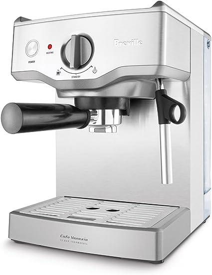 Breville BES250XL Cafe Venezia 15-Bar Stainless-Steel Espresso Machine by Breville: Amazon.es: Hogar
