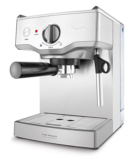 Breville BES250XL Cafe Venezia 15-Bar Stainless-Steel Espresso ...