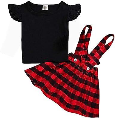 AUPUMI Conjunto de Top y Falda Niñas/Bebé Niña, Camisetas Faldas ...