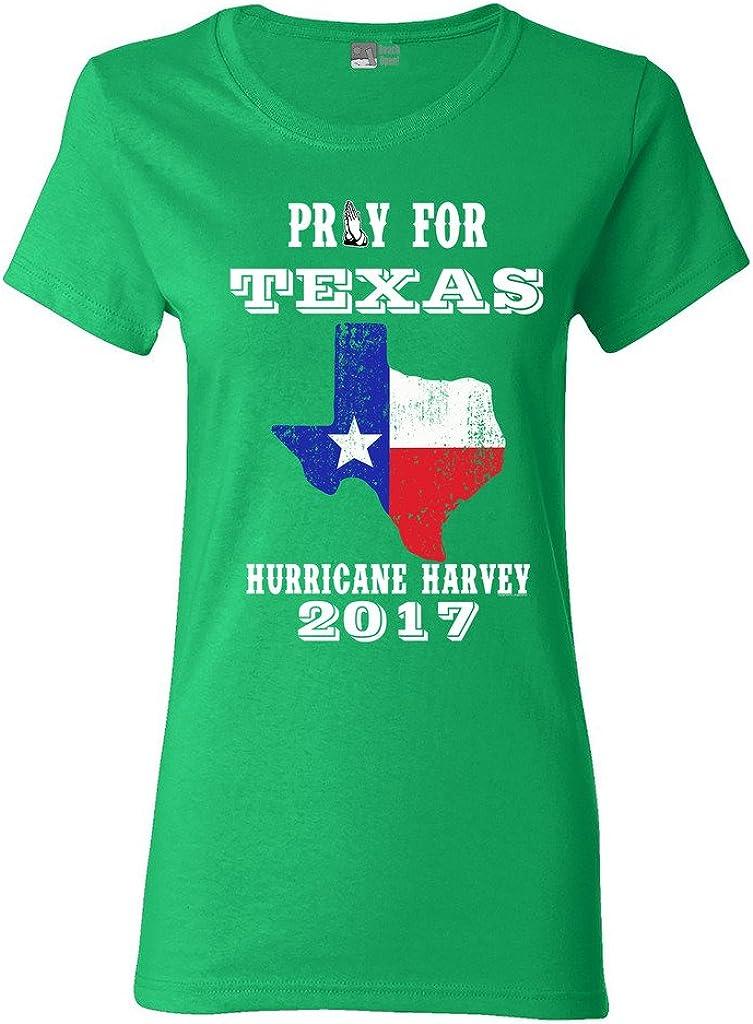 Ladies Pray for Texas Map Hurricane Harvey Survivor 2017 DT T-Shirt Tee