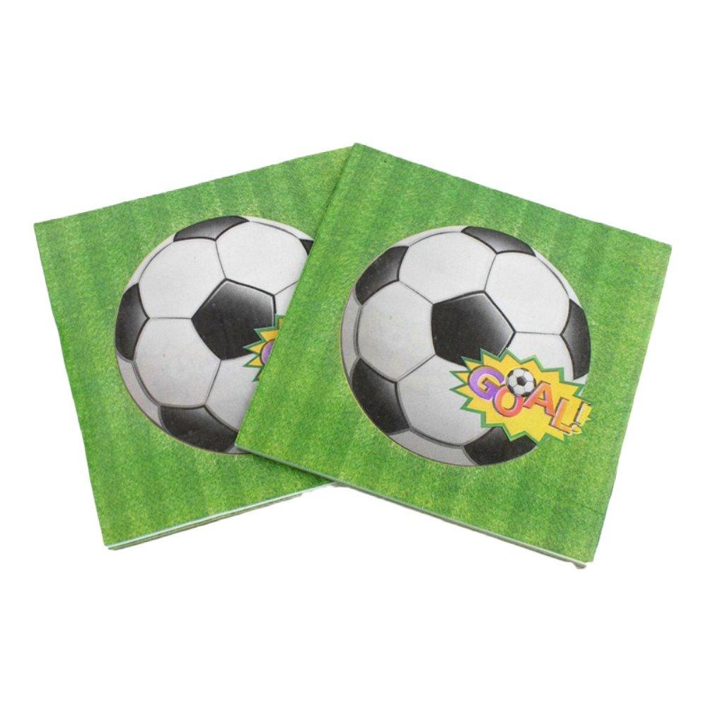 smartcoco 20pcsペーパーナプキンSoccer World Cup Celebrationパーティー印刷ティッシュディナーテーブル装飾、13