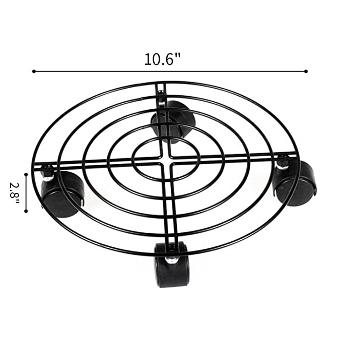 Amazon Com Moutik 3 Pack Round Plant Caddy Metal Plant Stand On