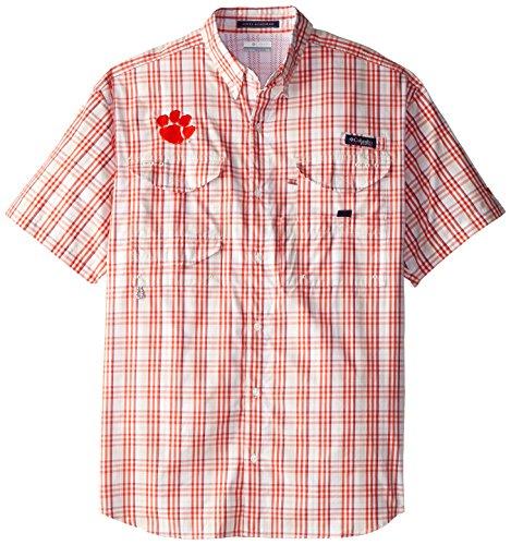 NCAA Clemson Tigers Men's Collegiate Super Bonehead Shirt, Medium, Bronco/Fawn Plaid
