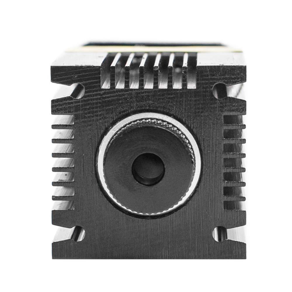 TOPQSC 2,5 Watt 5,5 Watt 7 Watt Laserkopf Blaulichtmodul Diode F/ür CNC DIY Gravur Schneidemaschine 450nm Fokus Power DC 12 V mit Schutzbrille /& Konzentrierende Hebeb/ühne 7W