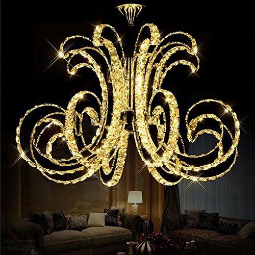 Getop D30.7 Inch X H19.68 Inch Modern Luxury LED Crystal Chandelier Art Lustre LED Chip Design Ceiling Light Fixture ( warm white )