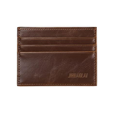Outtop moda hombres cartera tarjeta caso billetera jinbaolai
