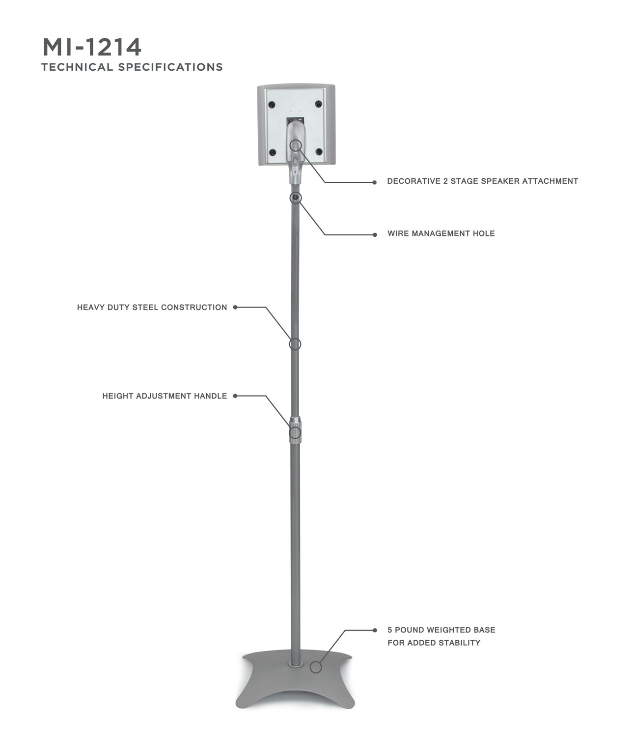 Mount It Speaker Stands For Surround Sound And Home Figure Diagram Showing The Placement Of Speakers Theater Floor Standing Height Adjustable Mounts Two Pairs 10 Lb Capacity