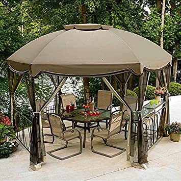 Amazoncom Garden Oasis Grandview Hex Gazebo Replacement Canopy