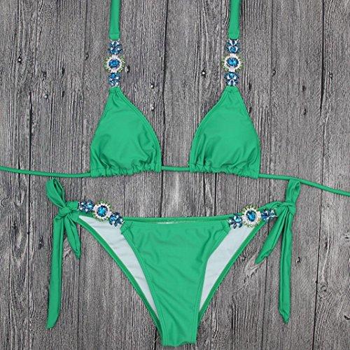 Push Verde Costume Imbottito Pezzi Bikini Costume Costumi Set Mare Bagno Costumi Up Up Due Sexy da Ragazza Set Brasiliana Bikini beautyjourney Push Pezzi Donna Sexy Donna Donna Due Pwxfppq
