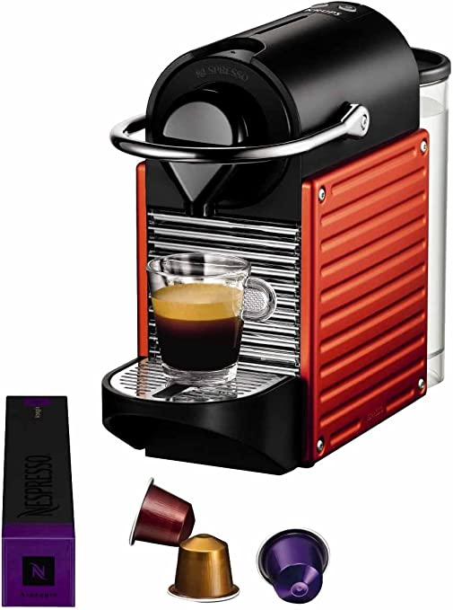 Nespresso Pixie Red YY1202 Krups - Cafetera monodosis (19 bares ...