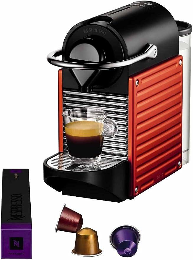 Nespresso Pixie Red YY1202 Krups - Cafetera monodosis (19 bares, Apagado automático, Sistema calentamiento rápido), Color rojo: Amazon.es: Hogar