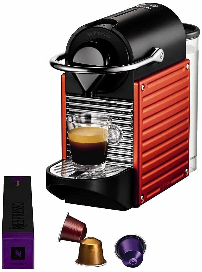 Krups YY1202FD Nespresso Pixie Machine à Espresso Rouge Electrique ...