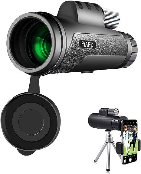 Telescopio monocular, PiAEK 12x50 Prisma portátil HD monocular con ...