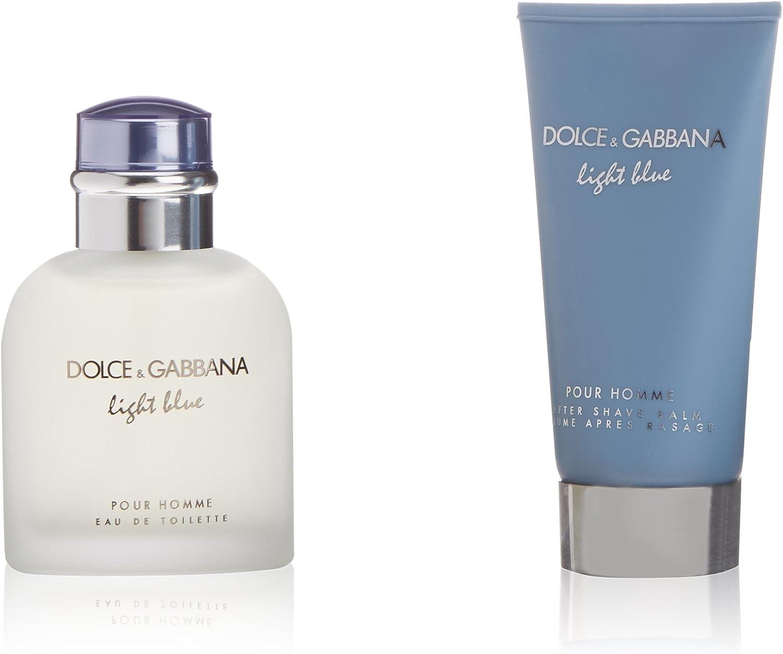 Dolce & Gabbana Light Blue Pour Homme Agua de Colonia + Bálsamo para Después del Afeitado - 1 Pack: Amazon.es: Belleza