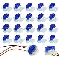 ZoneYan 20 Conectores Conector para Cables, Juego de Reparación para Cables de Robot Cortacésped, Bornes para Cables…