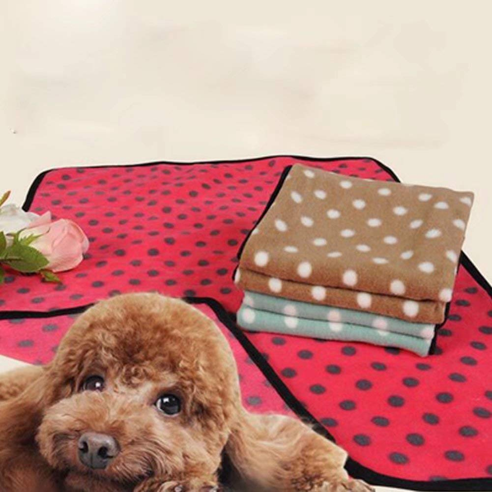 JINGB Pet Supplies 1Pc Pet Blanket Fleece Blanket for Dogs Cats(Red,S) Pet Bed Blanket
