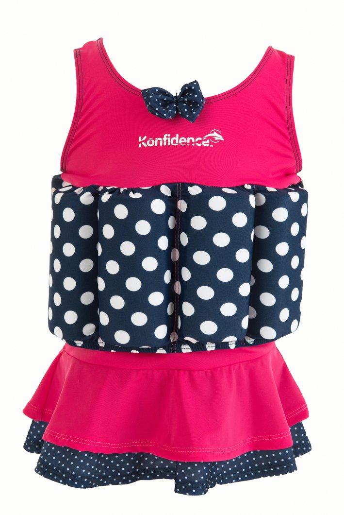 Konfidence Float Suit - Bañador con Integrado de Flotación Rosa Polka Falda Flotador para óptima Brazo Libertad 1 - 2 Años: Amazon.es: Deportes y aire libre