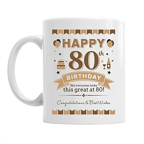 80th Birthday Gift For Men 1938 Keepsake 80 Year Old Coffee Mug
