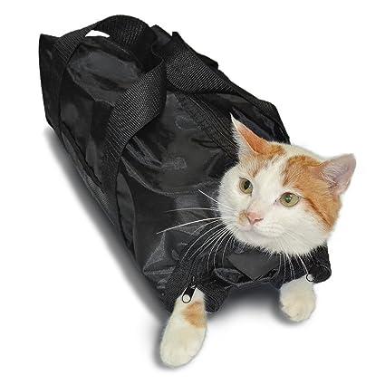 Anself - Bolsa de Gatos para Transporte / Limpieza / Higiene / Preparación, Color Negro