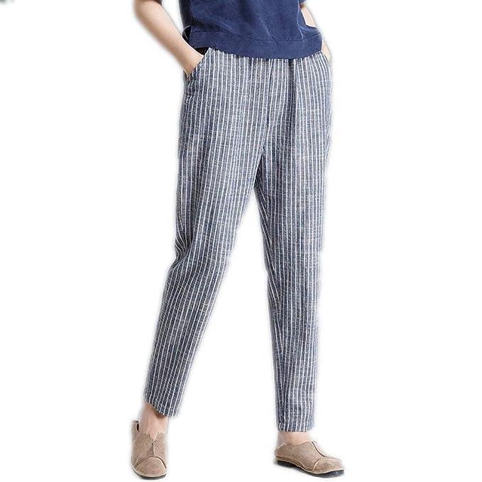 Mujer Fashion De Anchos Verano Libre Único Lino Pantalon Flecos Pantalones Bobolily Baggy Elegantes Tiempo 8xqwtS5nE