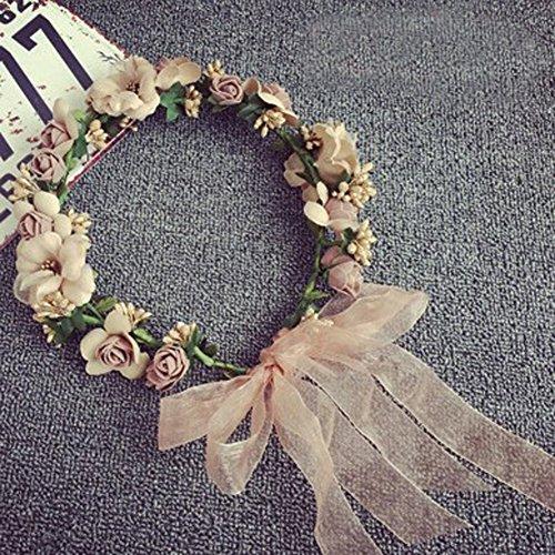 Women's Flower Crown Bride Floral Hair Wreath Floral Halloween Headband Garland (Fall Halloween Recipes)