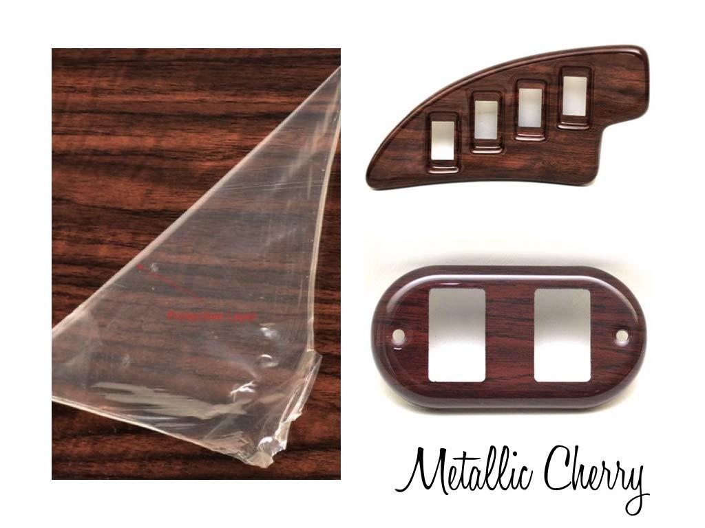 "Boat Blank Dash Panel Material - Woodgrain Metallic Cherry 24"" x 48"" x 3/16"""