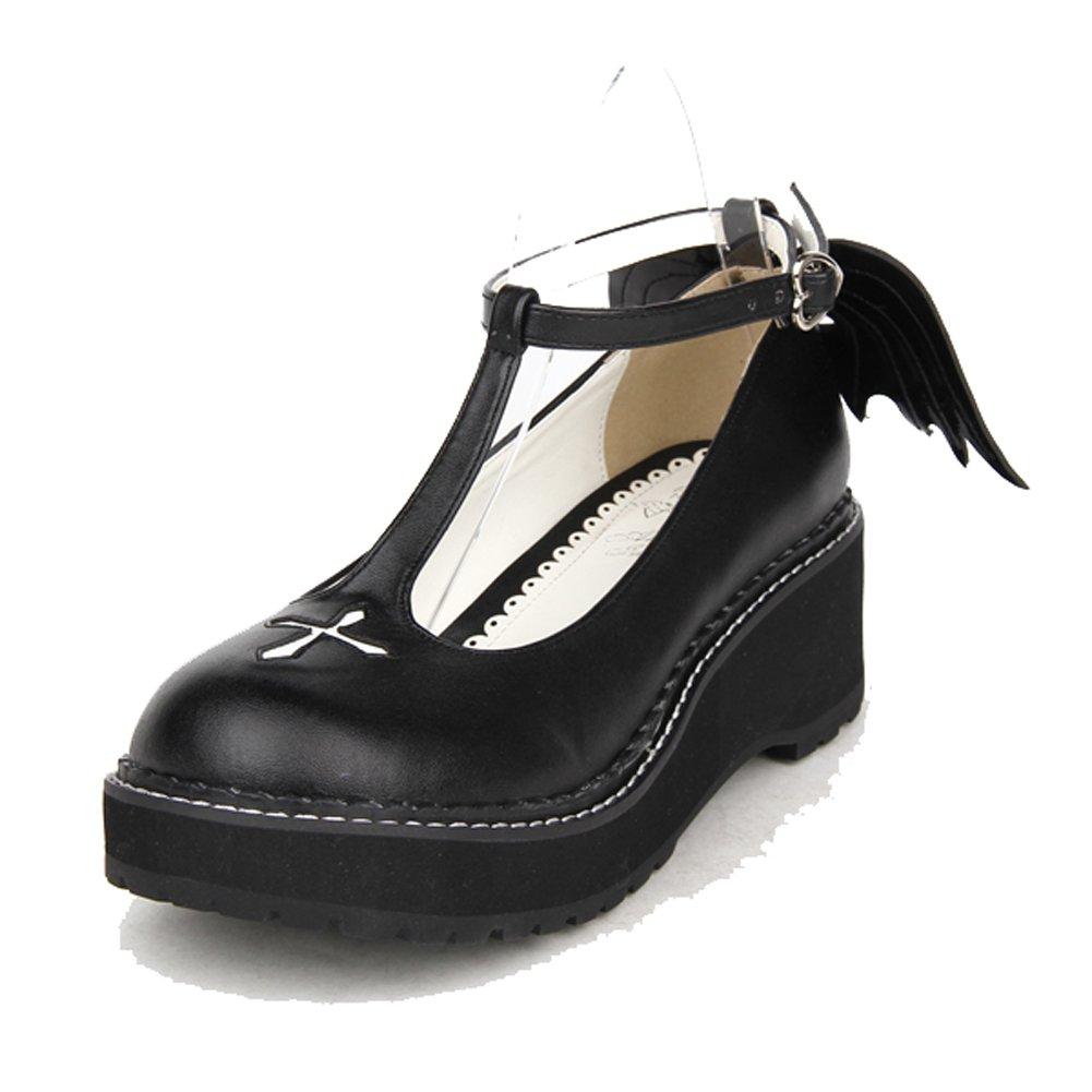 5c9d4b91538 lolita shose nyAbXmZc cute Purple Lolita Shoes Cross Strap Chunky Heel Bow  Sweet Lolita Pumps Shoes