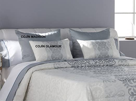 Tejidos JVR - Cojín Glamour 50x60 cm - Color Perla con Relleno