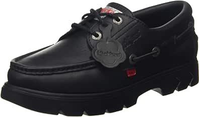 Kickers Lennon Black Leather, Zapatos Unisex Adulto