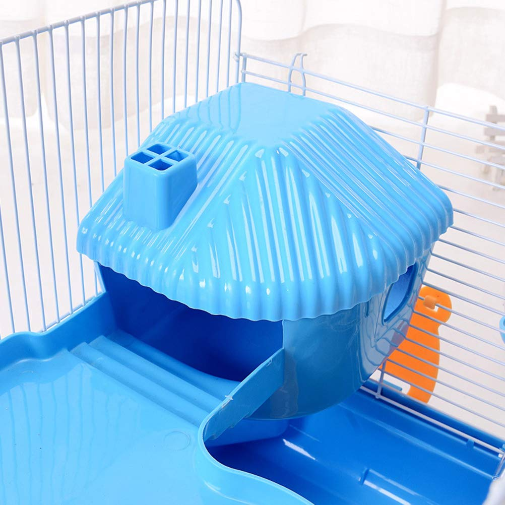 POPETPOP Hamster Cages and Habitats-Hamster Bedding Double-Layers Hamster House Portable Dwarf Hamster-Syrian Hamster-Hedgehog-Chinchilla-Mouse Cage by POPETPOP (Image #6)