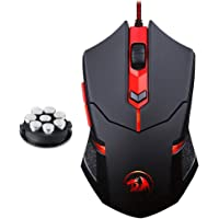 Redragon Centrophorus M601 Wired Gaming Mouse with 8 Piece Weight Tuning Set (Black)