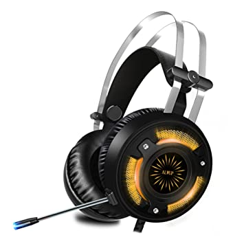ALWUP Cascos PS4 Gaming,Auriculares Gaming PS4 Xbox One con Micrófono, Auriculares PC Game