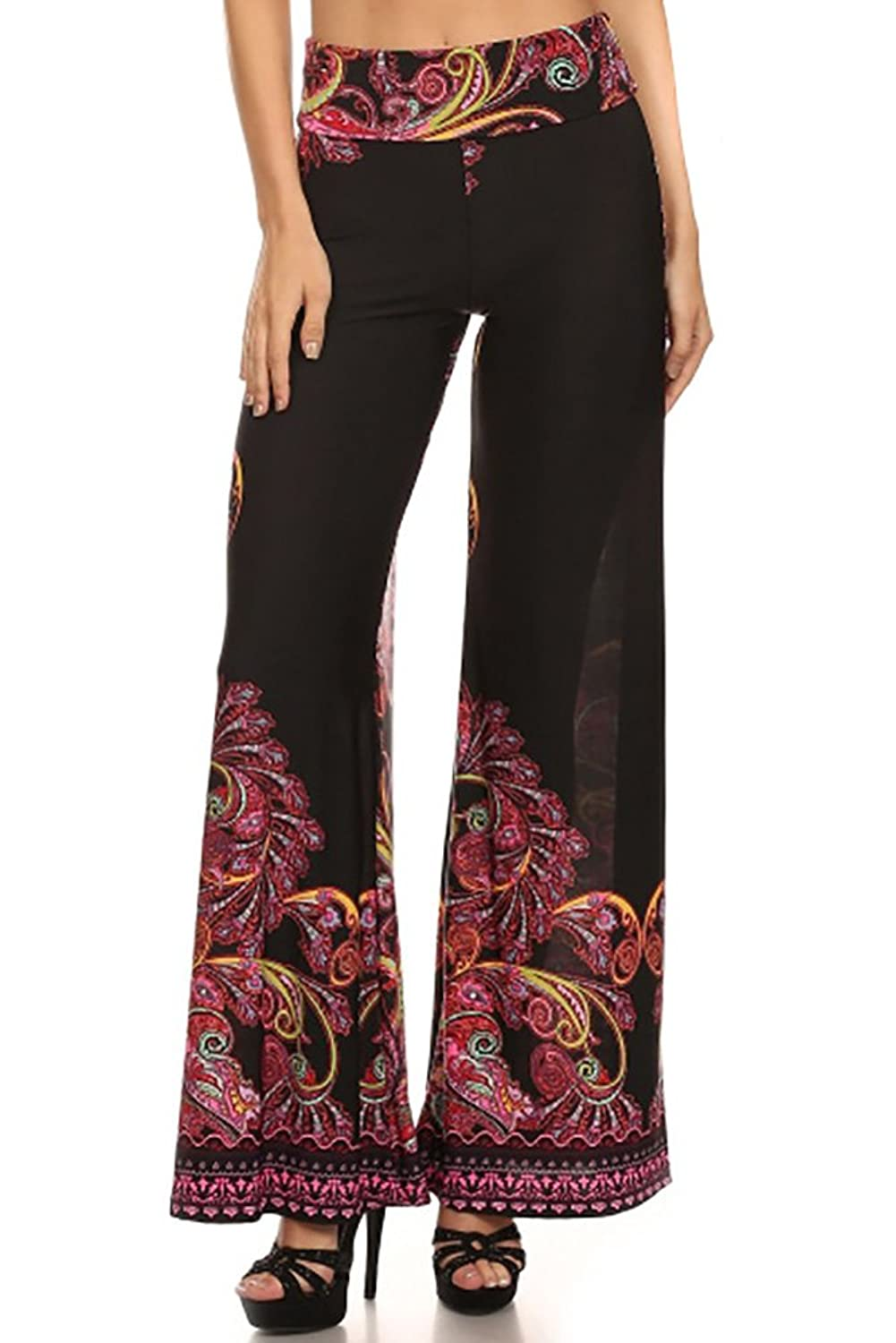 Betsy Red Couture Women's Plus Size High Waist Palazzo Pants