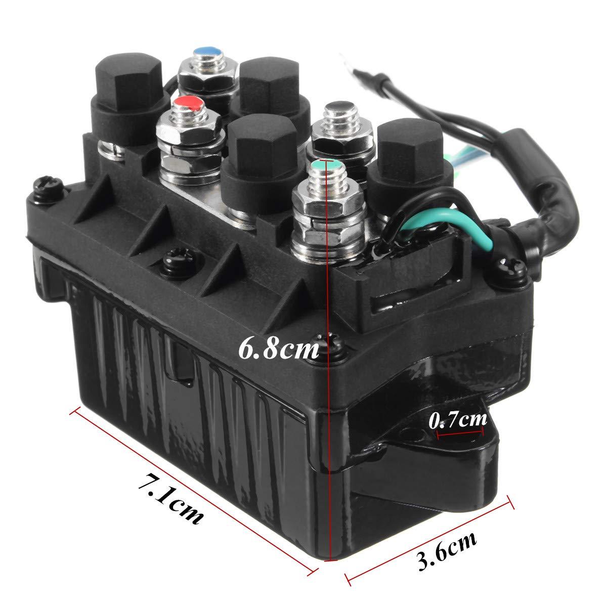 Kungfu Mall Motor Power Trim /& Relay 3 Pin para Yamaha 30-90 HP 6H1-81950-00-00 Motor