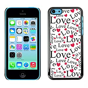 Print Motif Coque de protection Case Cover // V00001907 Fondo de los corazones del amor y del // Apple iPhone 5C