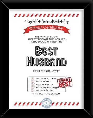 buy printelligent award certificate for best husband gifting